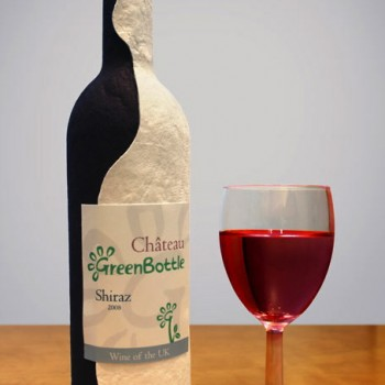 A paper wine bottle