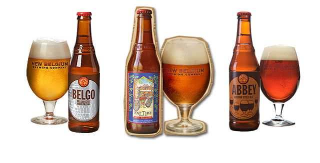 The New Belgium Brewing Company's range of beer