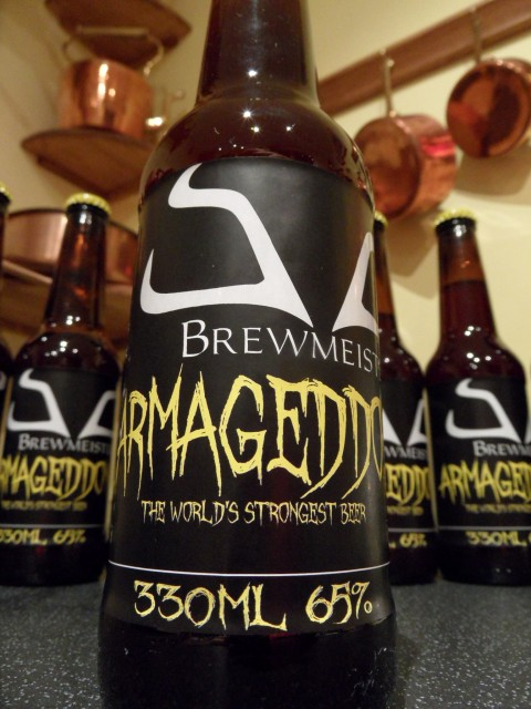 Scottish brewers Brewmeister have created the world's strongest beer, the 65% abv Armageddon
