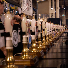 A bar at the 2012 Camra Great British Beer Festival