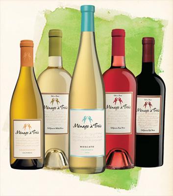 Ménage à trois wines