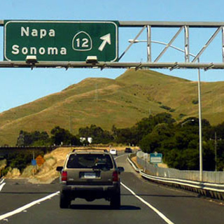 Driving in the Napa Valley