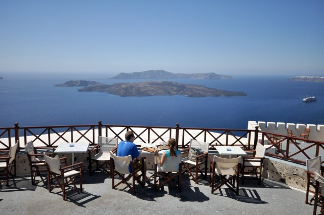 View from the Santorini Winery