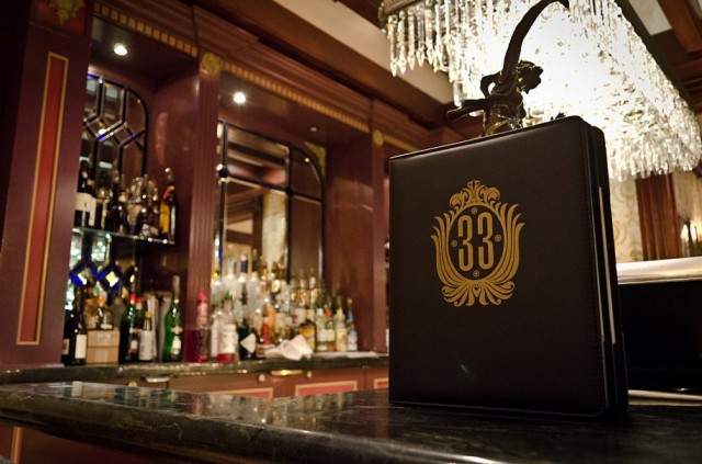 The bar at Club 33. Credit: Pete Hottelet