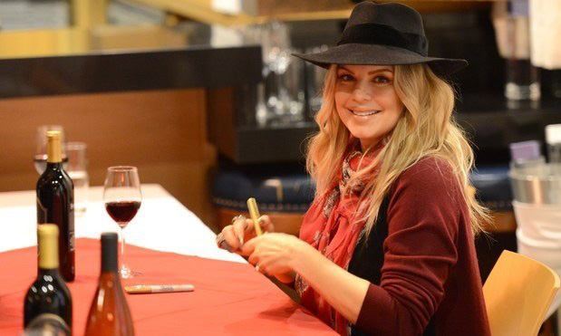 Black Eyed Peas singer Fergie held a bottle signing at her Ferguson Crest winery this week