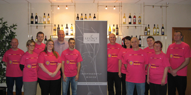 Employees from Kingsland & Legacy Wines ahead of their trek along the Great Wall of China in April