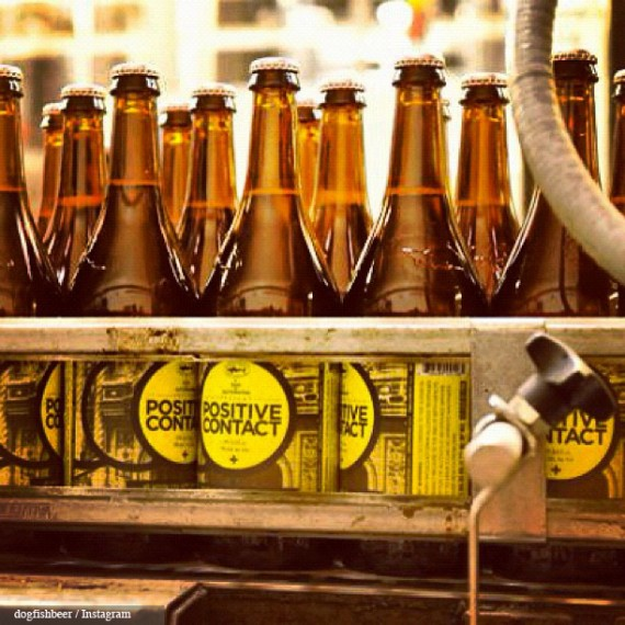75cl bottles of Dogfish Head Positive Contact