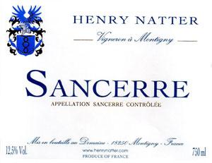 Henry Natter 2010 Sancerre