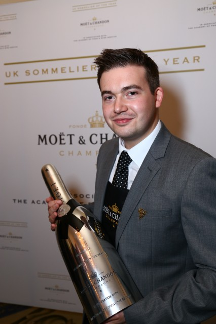Clement Robert of Medlar is all smiles after being crowned the UK Sommelier of the Year