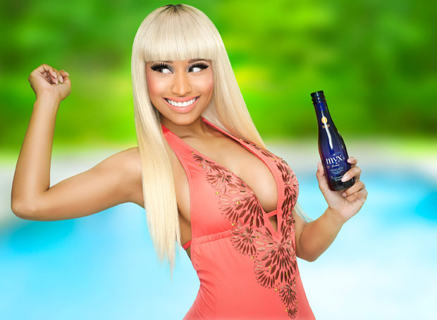 Nicki Minaj is the new face and part owner of Moscato brand Myx Fusions