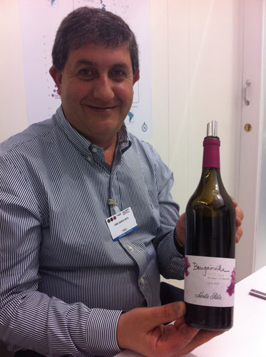 Andrés Ilabaca of Santa Rita shows off its latest wine Bougainville at last month's Vinexpo