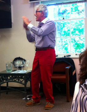 Jadot winemaker Jacques Lardière speaking at IPNC in Oregon shortly before his official retirement