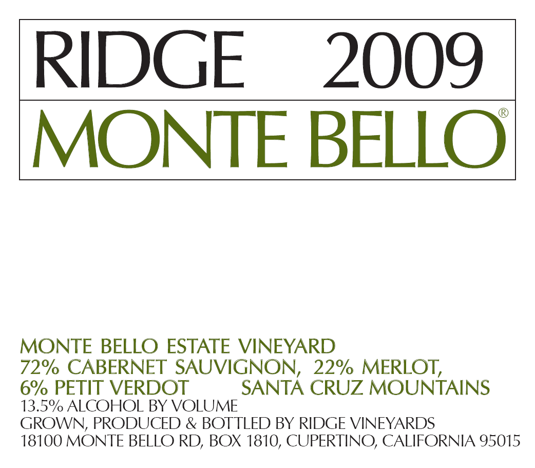 Ridge Monte Bello 2009