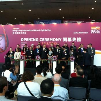 Hong Kong Financial Secy John Tsang joins country representatives in opening the sixth HKIWSF
