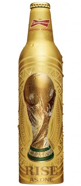 Budweiser World Cup limited edition aluminium bottle