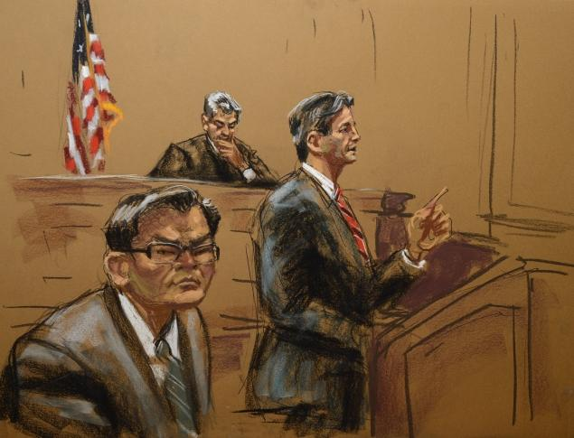 A court drawing from the recent Rudy Kurniawan trial. Credit: Jane Rosenberg/New York Daily News