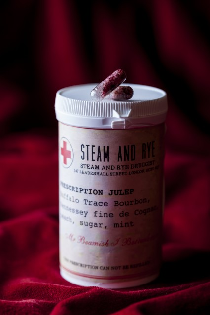 The Bourbon-based Prescription Julep at Steam & Rye