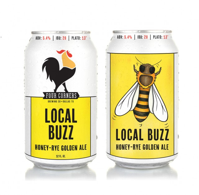 Local buzz honey-rye golden ale, Four Corners Brewing Co.