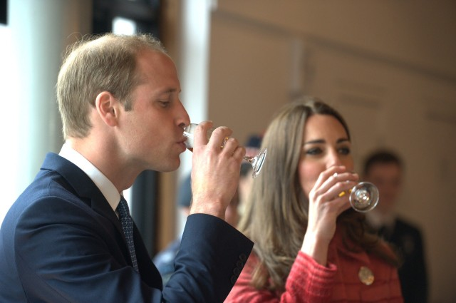 Free to use - Duke and Duchess of Cambridge Officially Re-Open Scotland's Oldest Distillery