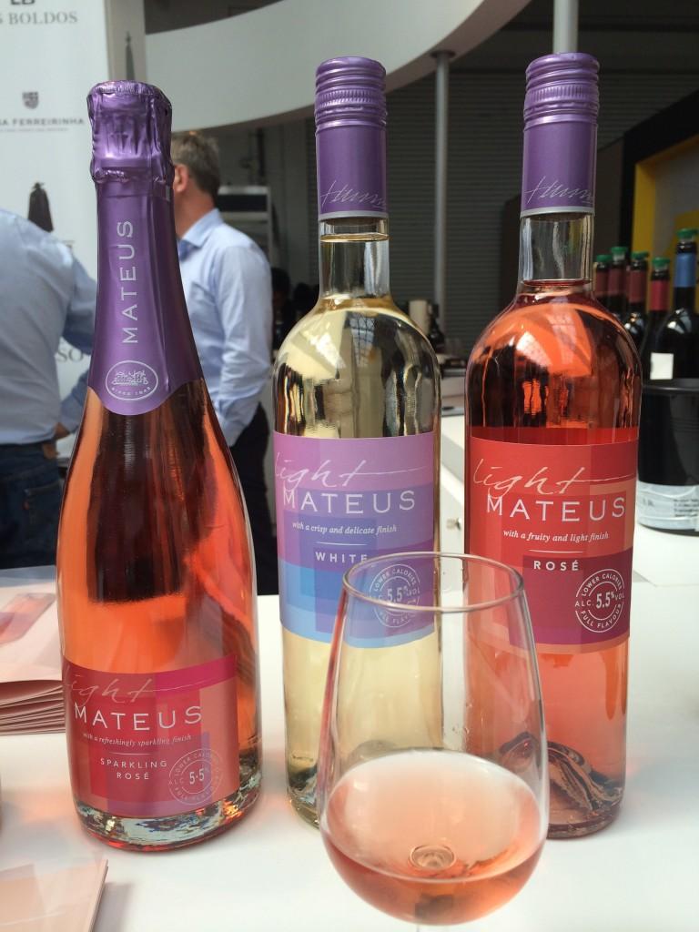 The new Mateus Light range on show at London Wine Fair
