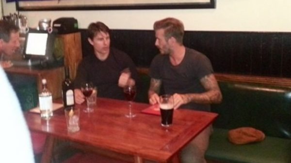 Cruise and Becks spotted at local boozer