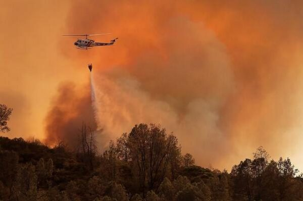 Wildfire rips through Napa wine country