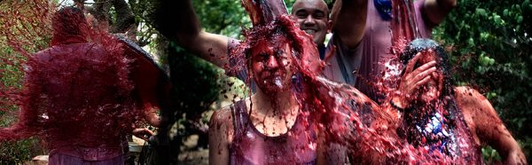 Thousands soaked in wine at Rioja festival
