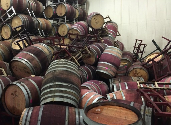 Damaged sustained at Bouchaine Vineyards in the Napa, tweeted by Juan Carlos Guerrero