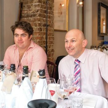 Simon Howland of the drinks business and Matthieu Longuère of Le Cordon Bleu
