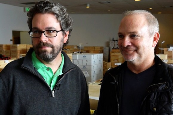 Kyle Meyer and Tristan Beamon at Best wines Online.