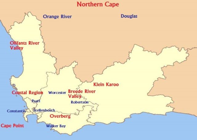 South Africa's winemaking regions