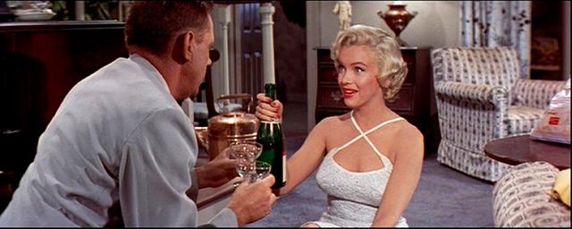 champagne 4 + Marilyn Monroe + Tom Ewell + Seven Year Itch