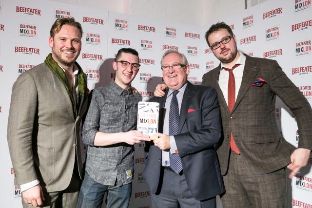 Beefeater's Sebastian Hamilton-Mudge, Brandon Phillips (Winner USA), Desmond Payne and Tim Stones