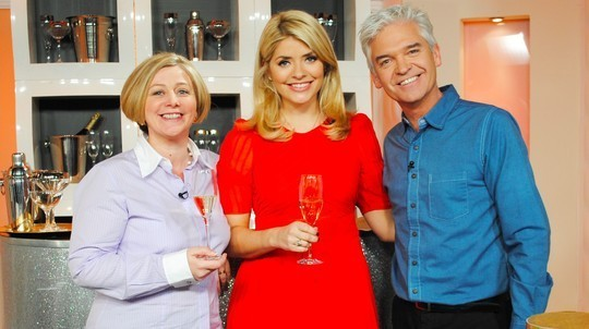 Champagne Jayne on the set of This Morning