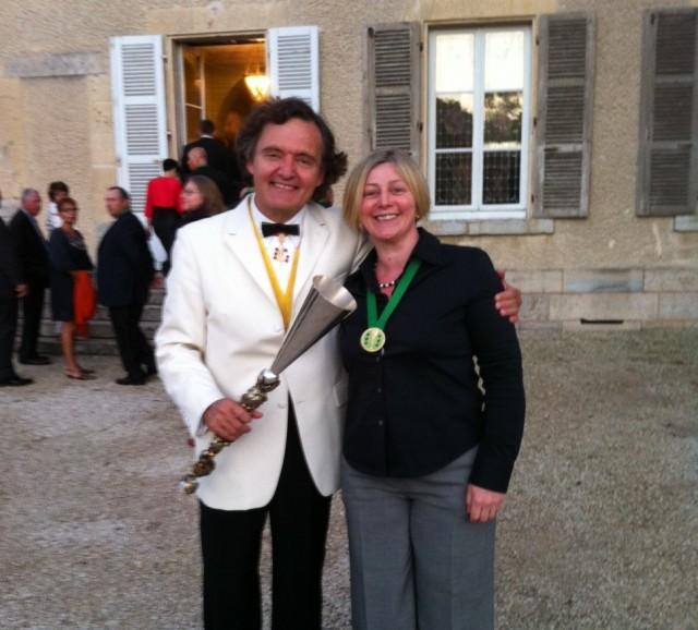 Champagne Jayne with Pierre Emmanuel Taittinger