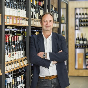 The new CEO of Majestic Wine, Rowan Gormley, in Majestic's Mayfair store