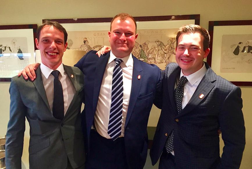 The UK's three new Master Sommeliers: Arnaud Bardary, Tobias Brauweiler and Clement Robert