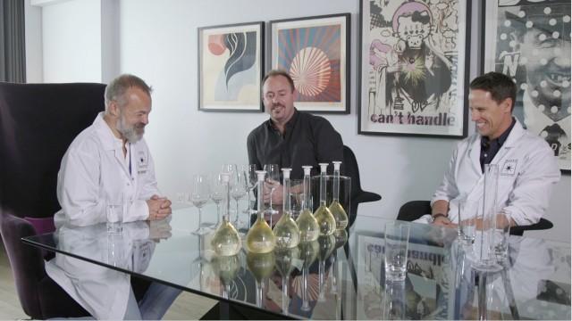 Graham and the Invivo blending team creating his wine (Photo: Invivo)