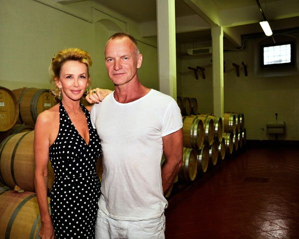 Sting with his wife Trudie Styler at their winery (Photo: Wiki)