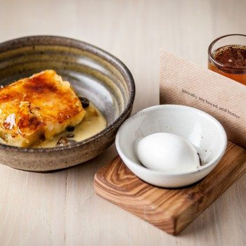 Paul Ainsworth bread and butter pudding