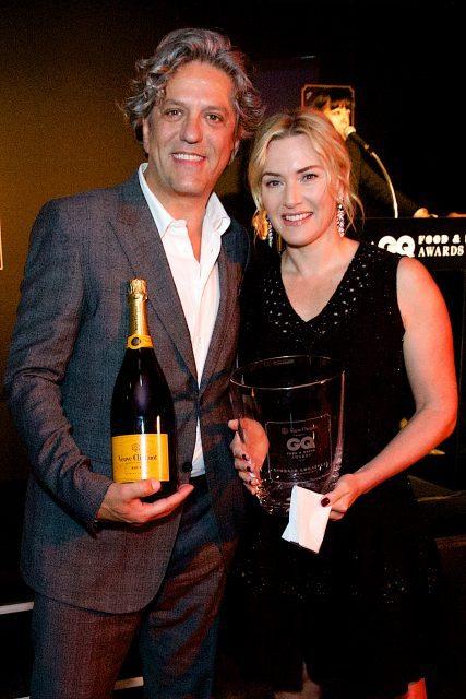Georgio Locatelli and Kate Winslet