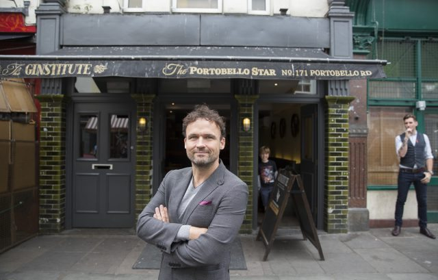 18/08/2015 Portrait of Ged Feltham founder of Leelex restaurant group and Portobello Road Gin picture credit: Neil Hall (BRITAIN) Neil Hall www.neilhallphotography.com 07766227770 3 Crown Court Crown Road London N10 2JA