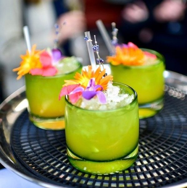 Chelsea Flower Show-inspired cocktails & dishes