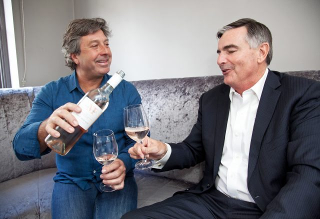 No fee for repro - please credit Johnny Bambury - Paul Sherwood Photography Barry & Fitzwilliam host a lunch in One Pico Restaurant, Dublin with Winemaker Neil McGuigan and Australian Celebrity Chef John Torode for the launch campaign of the McGuigan Founders Series of wines
