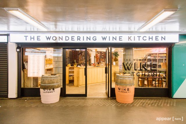 The Wondering Wine Company's Windering Wine Kitchen pop-up within Old Street tube station