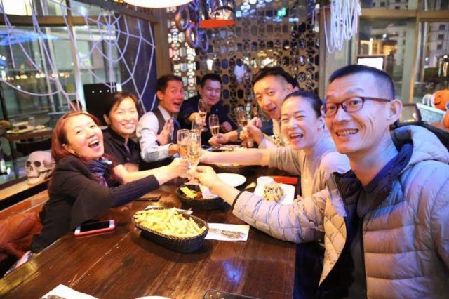 Chinese drinkers toasting with Champagne (Photo credit: Bureau du Champagne en Chine)