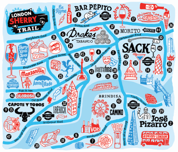 London Sherry Trail map launched