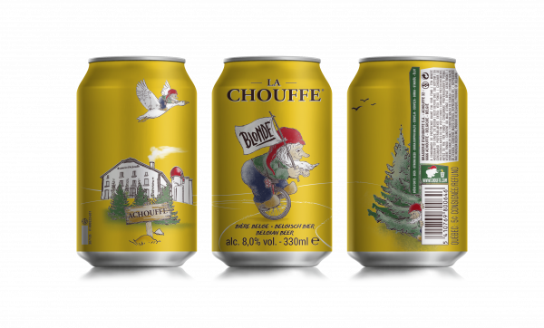 La Chouffe introduces cans in the UK