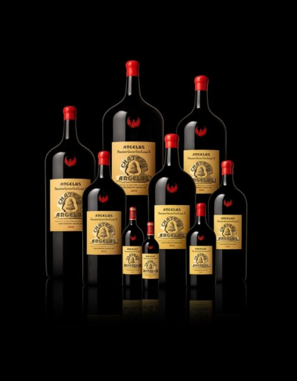 Angelus stamps 2018 bottles with red phoenix