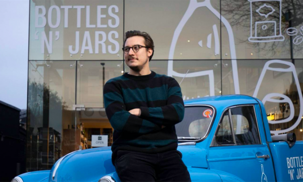 Bert Blaize opens wine shop in classic car showroom